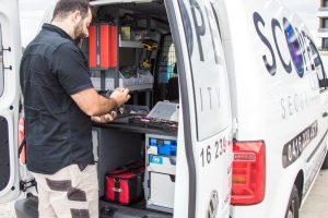 tom working at the Scope Security Pty Ltd mobile locksmith service in Sydney that is available 24 hours a day