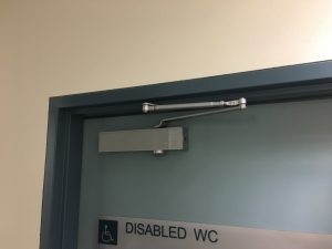a locksmith that can install a strong door closer, we chose this closer because we were able to delay the closing speed to allow for elderly and wheel chairs to exit with ease.